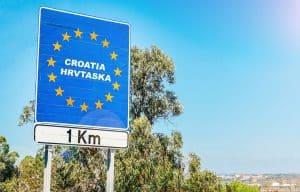 Croatia border of European Union country
