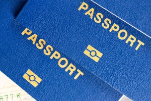 blue biometric passport