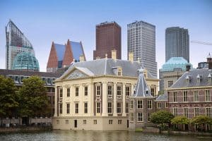 Binnenhof Palace Dutch Parlament in the Hague Netherlands