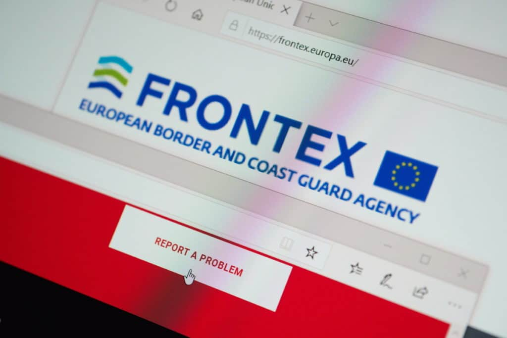 Frontex the European Border and Coast Guard Agency website