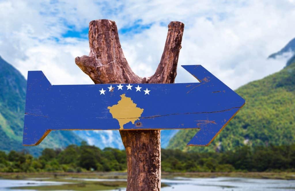 Kosovo Flag direction to Europe Schengen Visa