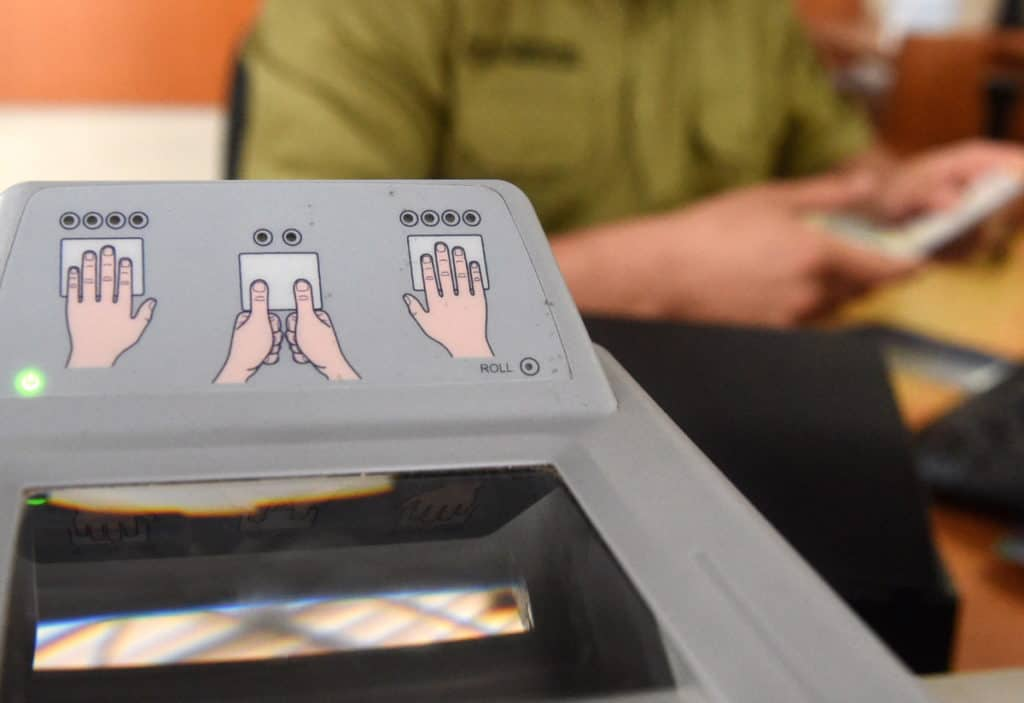 Schengen Visa Fingerprint scan border security Interpol