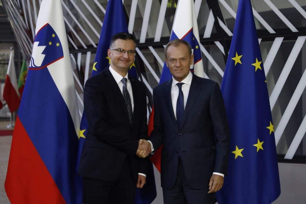 Slovenian Prime Minister Marjan Sarec visit Brussels Belgium