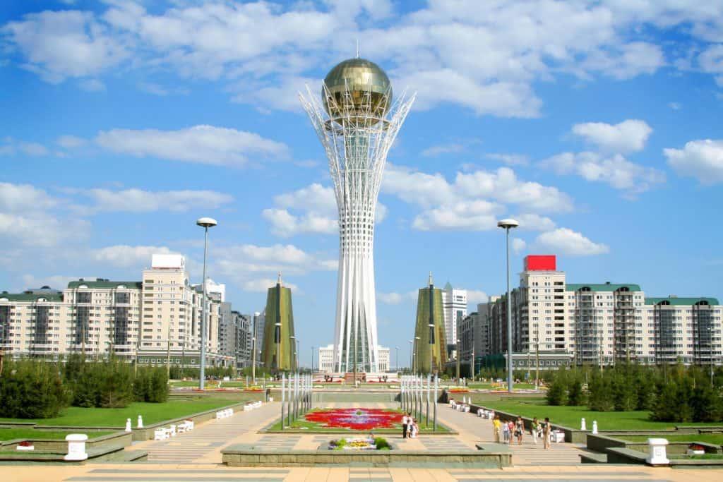bayterek tower in astana - nur-sultan kazakhstan