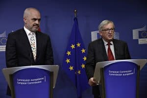Prime Minister of Albania Edi Rama and European Commission President Jean-Claude Juncker