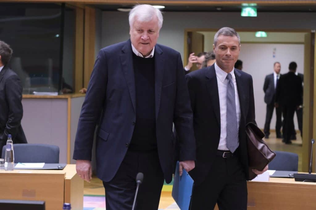 Horst Seehofer - Justice and Home Affairs Council in Brussels Belgium