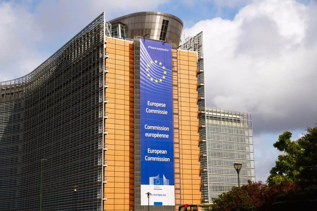 Le Berlaymont - The European Comission modern building in Belgian capital Brussels