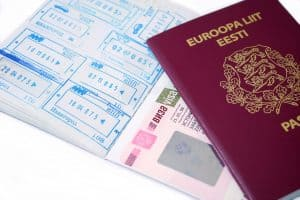Russian visa and Estonian passport