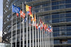 Europarliament Flags of the countries of the European Union Visa Rules Schengen