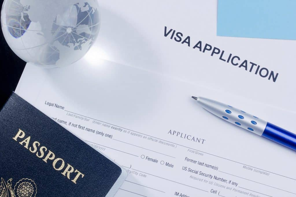 Schengen Visa Application with passport